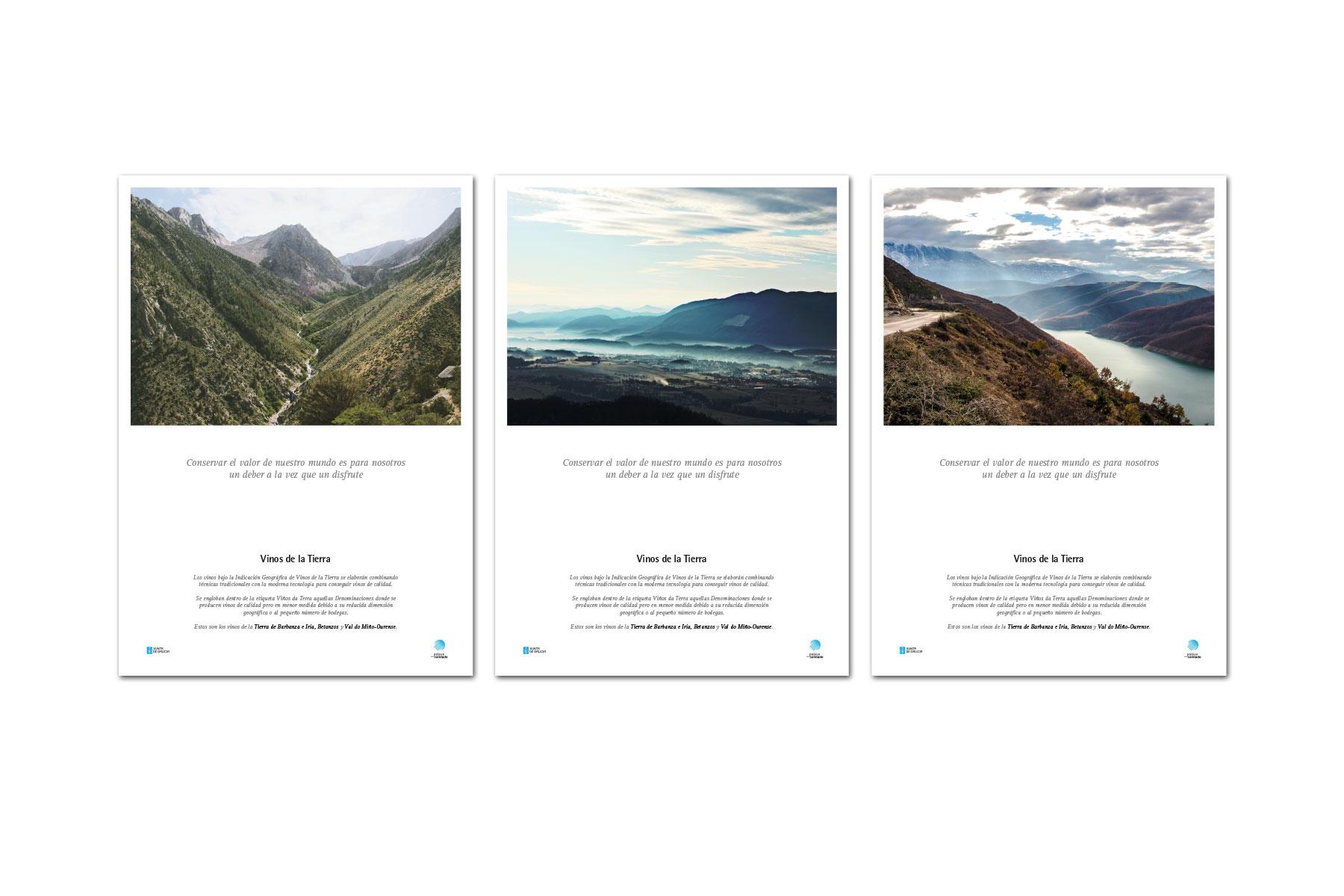 Publicidad gráfica. Tres carteles