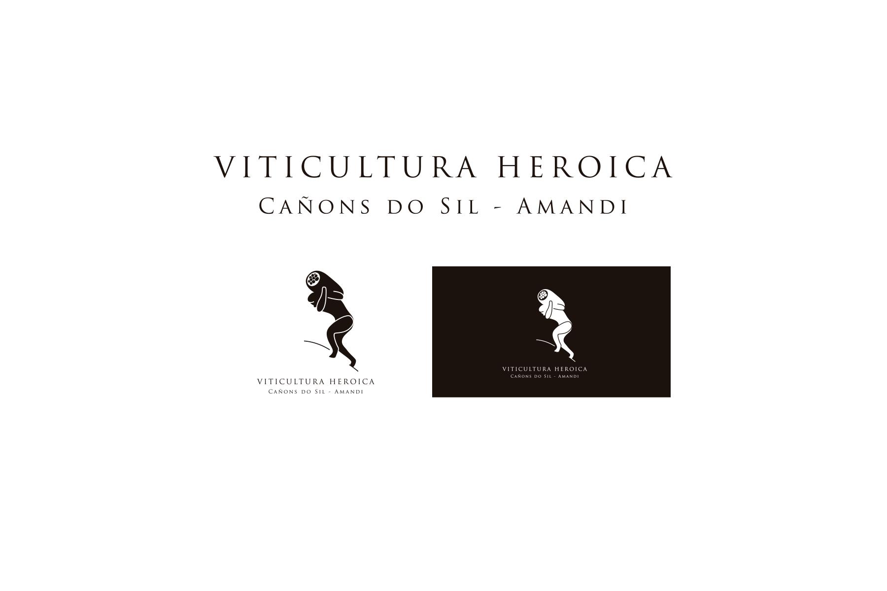 Viticultura Heróica; Cañóns do Sil Amandi. Presentación logotipo e imagotipos en positivo y negativo