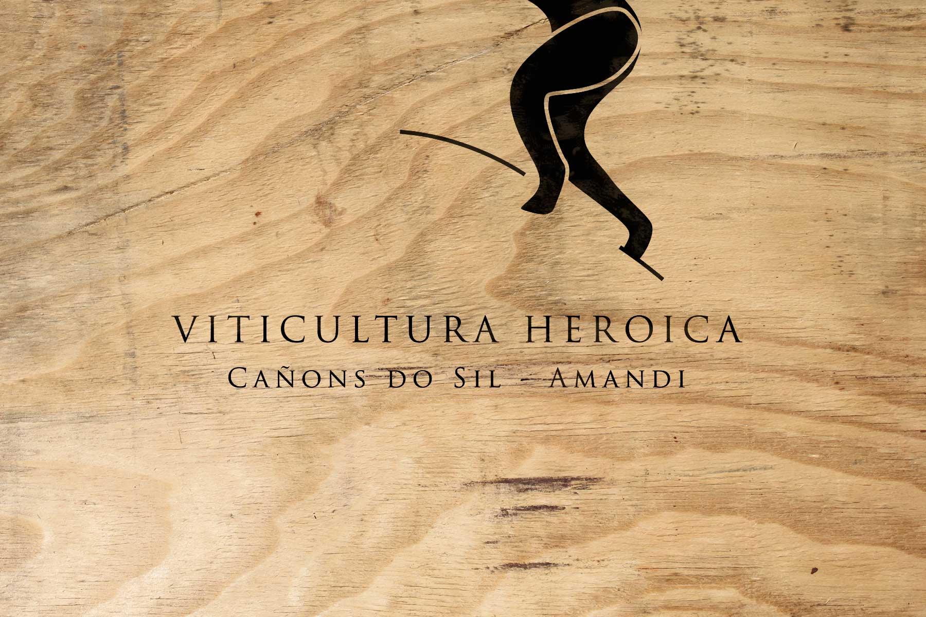 Presentación del logotipo serigrafiado sobre madera